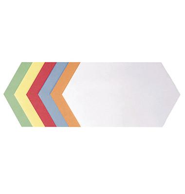 Moderationskarten Königswabe farbig sortiert 29,7x16,5cm 500 Stück