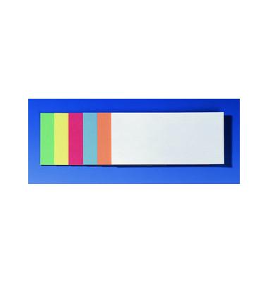 Moderationskarten Rechteck farbig sortiert 20x9,5cm selbstklebend 300 Stück