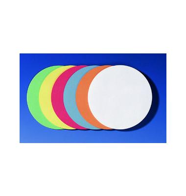 Moderationskarten Kreise Ø 14cm selbstklebend farbig sortiert 300 Stück