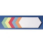 Moderationskarten Rhombus farbig sortiert 20,5x9,5cm selbstklebend 300 Stück