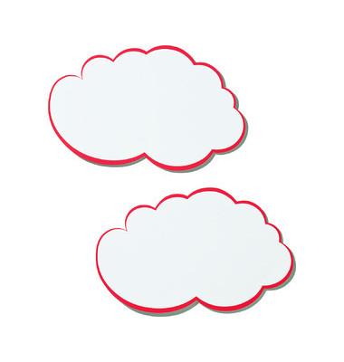 Moderationswolken m.rotem Rand weiß 25x42cm 20 St