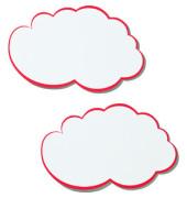 Moderationswolken m.rotem Rand weiß 37x62cm 20 St