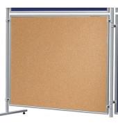 Pinnwand X-tra! Line EL-UTK150, 150x120cm, Kork + Kork (beidseitig), Aluminiumrahmen, braun + braun