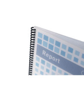 Umschlagfolien PolyTechno IB387210 A4 PP 0,7 mm weiß-transparent strukturiert 50 Stück