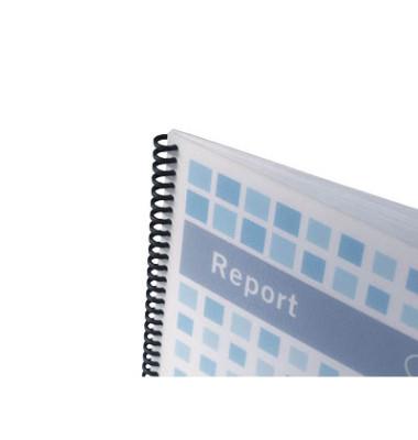 Umschlagmaterial PolyTechno A4 weiß/transparent 0,7mm 50 Stück