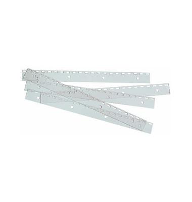 Abheftstreifen FileStrip IB410215, einsteckbar, Kunststoff, für Plastikbindung, Drahtbindung mit US-Teilung, transparent, 100 S