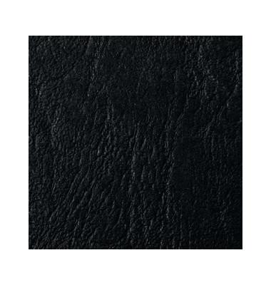 Umschlagkarton LeatherGrain 4400017 A5 Karton 250 g/m² schwarz Lederstruktur 100 Stück