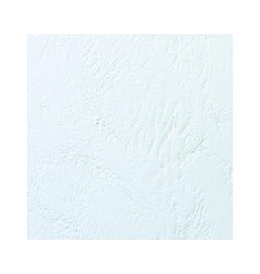 Thermobindemappe ThermaBind LeatherGrain A4 weiß 1,5mm 250g 15 Blatt 100 Stück
