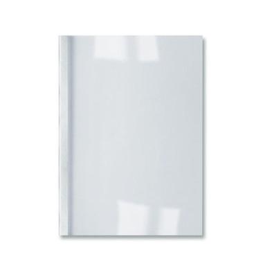 Thermobindemappe ThermaBind LeatherGrain A4 weiß 3mm 250g 30 Blatt 100 Stück