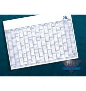 Plakatkalender 17000 16Monate/1Seite Papier 2-farbig A1-quer 100x60cm 2019