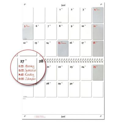 Monatskalender Nr.6 1Monat/2Seiten A4-hoch 30x20cm 2019