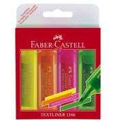 Textmarker 1546 Textliner 4er Etui farbig sortiert 1-5mm Keilspitze