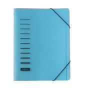 Ordnungsmappe PP/40056-02 DIN A4 blau Karton mit PP-Umschlag
