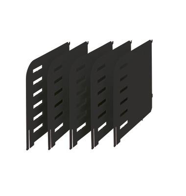 rac Trennwände /280-3015.95 TxH 231x240mm schwarz Inh.5