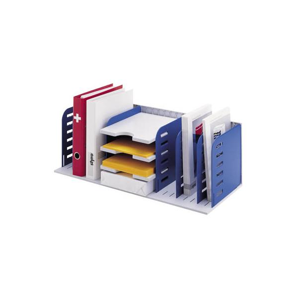 styro Sortierstation Styrorac 282-0340738 grau/blau 8 Trennwände, 3 Tablare