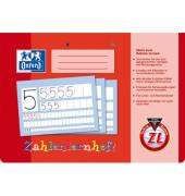 Zahlenlernheft A4 quer Lineatur ZL kariert weiß 16 Blatt