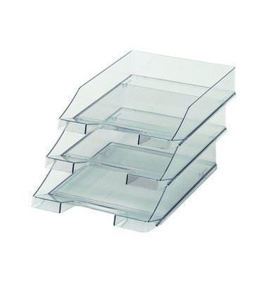Briefablage 1026 A4 / C4 grau-transparent stapelbar