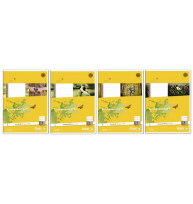Schulheft Basic 1. Schuljahr A5 Lineatur 1 liniert weiß 32 Blatt