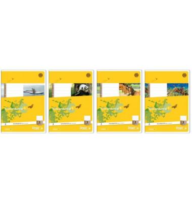 Schulheft Basic 3. Schuljahr A5 Lineatur 3 liniert weiß 32 Blatt
