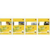 Schulheft Basic A5 Lineatur 4 liniert weiß 32 Blatt
