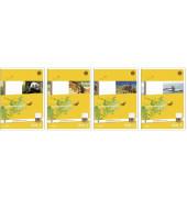 Schulheft Basic A5 Lineatur 10 kariert mit Rand weiß 32 Blatt