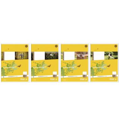 Schulheft Basic A4 Lineatur 20 blanko weiß 32 Blatt