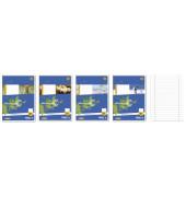 Schulheft Basic A5 Lineatur 27 liniert mit Doppelrand weiß 16 Blatt
