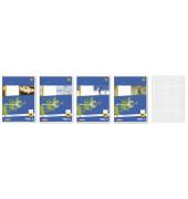 Schulheft Basic A5 Lineatur 28 kariert mit Doppelrand weiß 16 Blatt