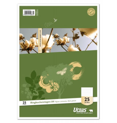 Ringbucheinlagen Style 040470013 Lineatur 25 liniert mit Rand A4 4-fach gelocht 70g 50 Blatt
