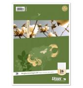 Ringbucheinlagen Style 040470023 Lineatur 26 kariert mit Rand A4 4-fach gelocht 70g 50 Blatt