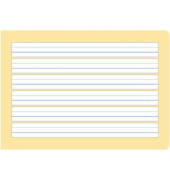 Schreibheft S.3 A5 quer liniert mit Rand weiß 20 Blatt