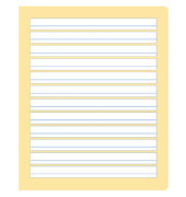 Schreibheft S.4 Quart liniert mit Rand weiß 20 Blatt