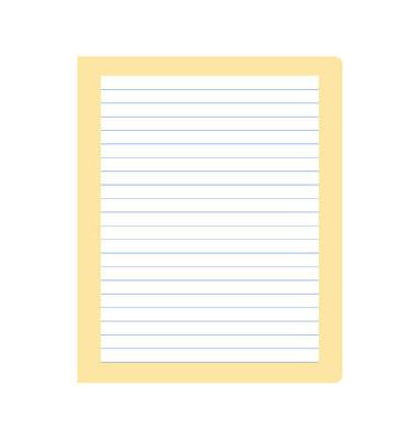 Schreibheft S.5 Quart liniert mit Rand weiß 20 Blatt