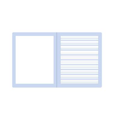 Creativheft C.1 Quart weiß liniert mit Rand 20 Blatt