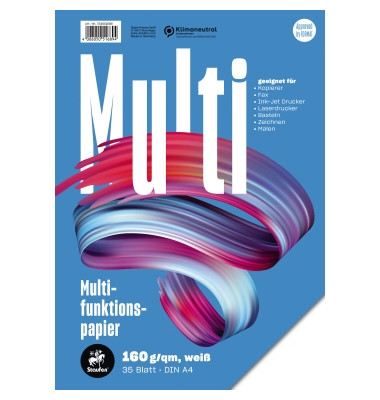 7xPlus Colors A4 160g Kopierpapier weiß 35 Blatt
