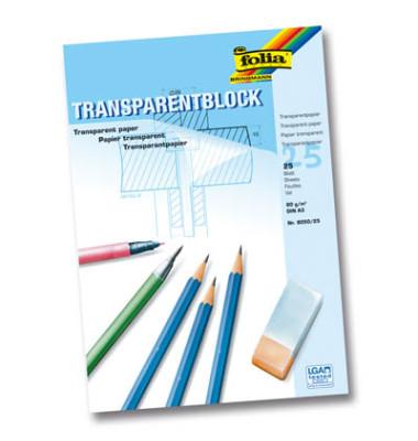 Transparentpapierblock 80g A3 25 Blatt