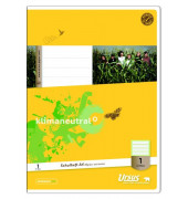 Schulheft Basic 1. Schuljahr A4 Lineatur 1 liniert weiß 32 Blatt
