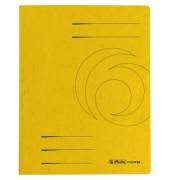 Schnellhefter Colorspan A4 intensiv gelb 355g Karton kaufmännische Heftung / Amtsheftung