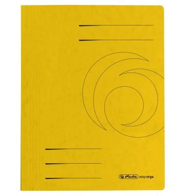Schnellhefter 1090 A4 intensiv gelb 355g Karton kaufmännische Heftung / Amtsheftung bis 250 Blatt