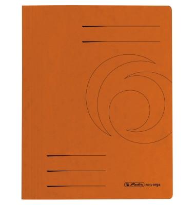 Schnellhefter 1090 A4 intensiv orange 355g Karton kaufmännische Heftung / Amtsheftung bis 250 Blatt
