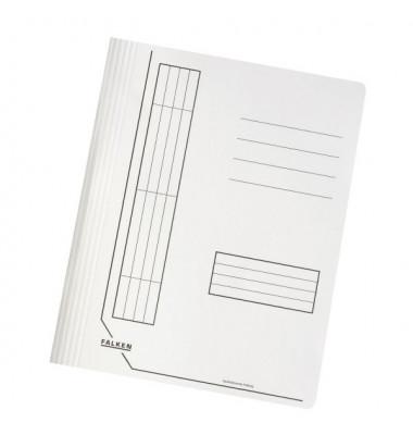 Schnellhefter 11287 A4 intensiv weiß 240g Karton kaufmännische Heftung / Amtsheftung