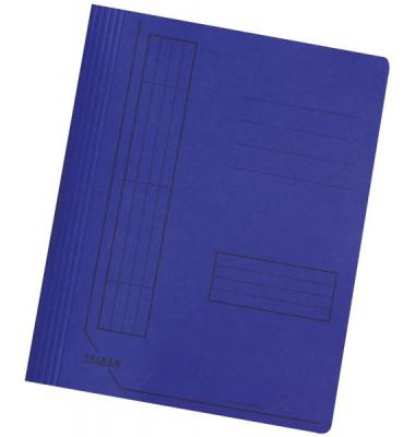 Schnellhefter 11287 A4 intensiv dunkelblau 240g Karton kaufmännische Heftung / Amtsheftung