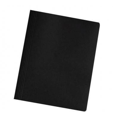 Schnellhefter 11287 A4 intensiv schwarz 240g Karton kaufmännische Heftung / Amtsheftung