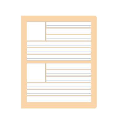 Wörterheft W.8 Quart liniert mit Rand weiß 20 Blatt