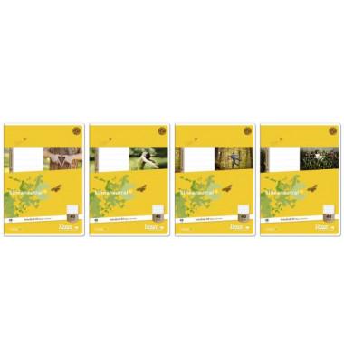 Schulheft Basic A4 Lineatur 40 kariert mit Rahmen weiß 32 Blatt
