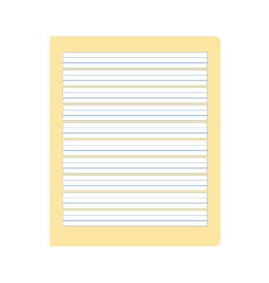 Schreibheft S.2 Quart liniert mit Rand weiß 20 Blatt