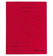 Schnellhefter Colorspan A4 intensiv rot 355g Karton kaufmännische Heftung / Amtsheftung