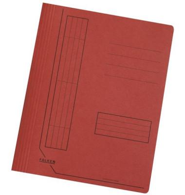 Schnellhefter 11287 A4 intensiv rot 240g Karton kaufmännische Heftung / Amtsheftung