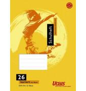 Schulheft Basic A4 Lineatur 26 kariert mit Rand weiß 32 Blatt