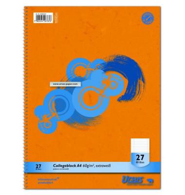 Collegeblock 40993027, A4 liniert, 60g 80 Blatt, 4-fach-Lochung